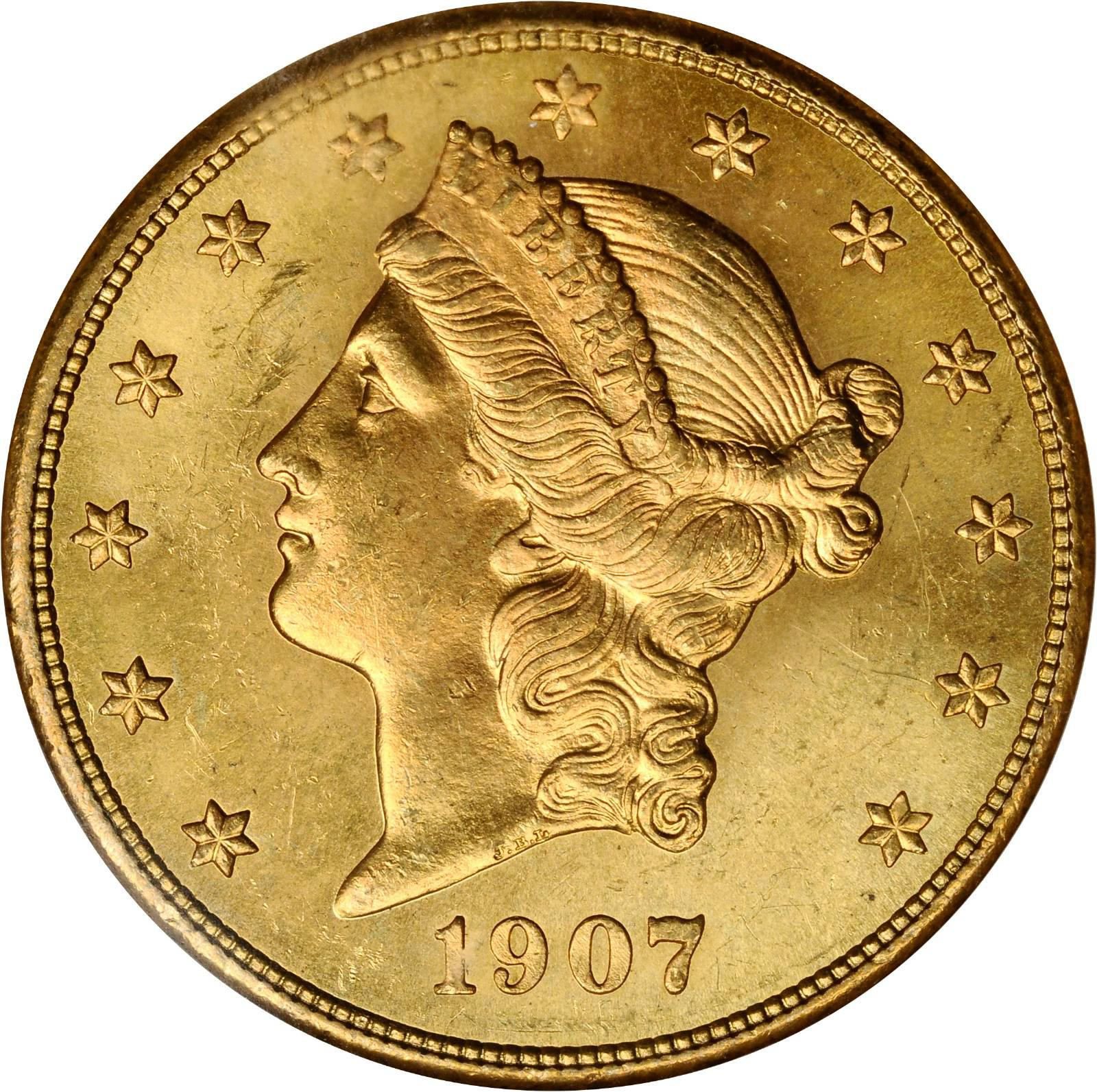 Value Of 1907 20 Liberty Double Eagle Sell Rare Coins