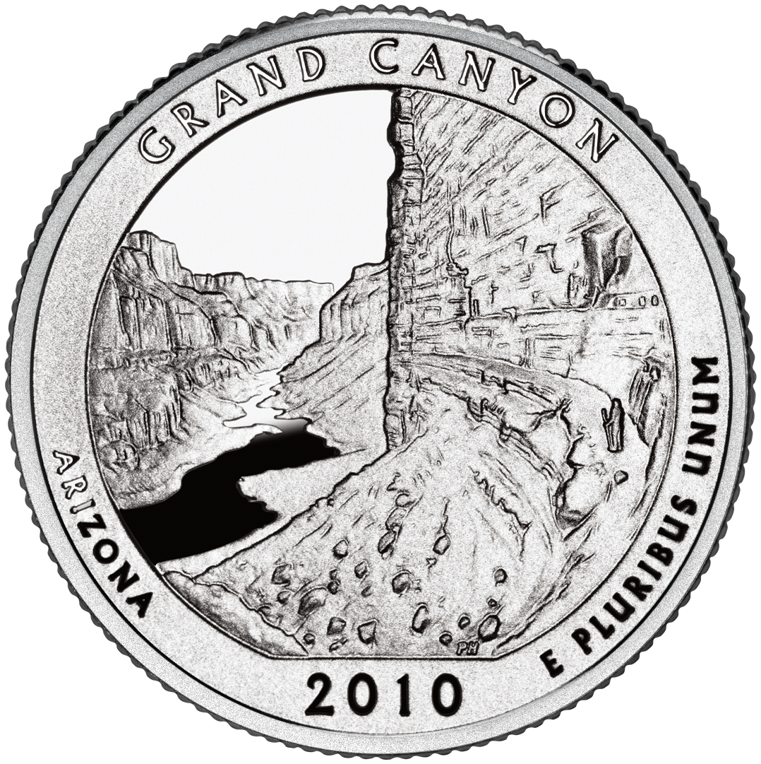 L-22-18 NOT ROLL 2010-P GRAND CANYON ATB QUARTER FROM MINT SET