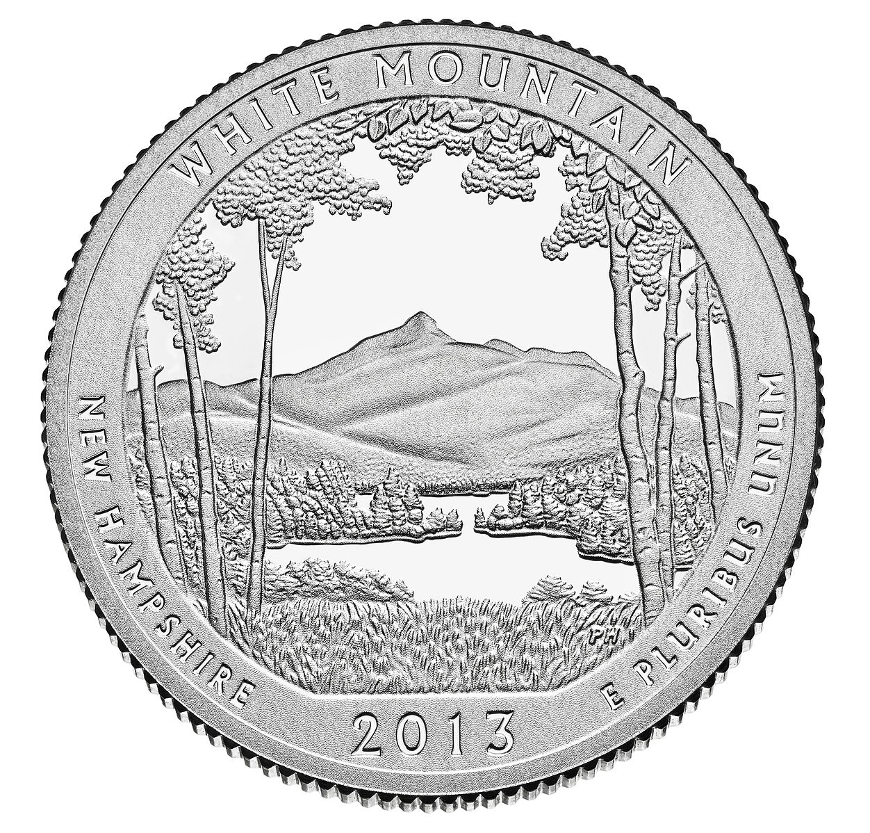 US 2013 New Hampshire White mountain National Forest Quarter $ Coin GP Bracelet