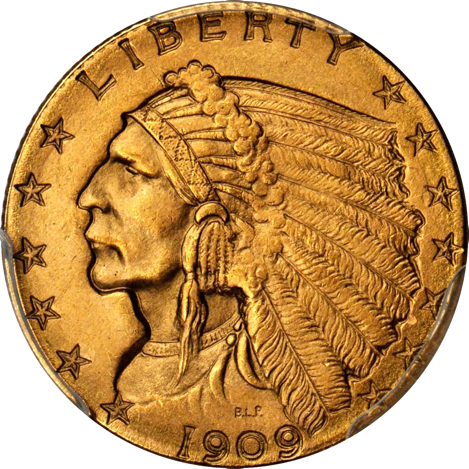 1909 gold indian head coin
