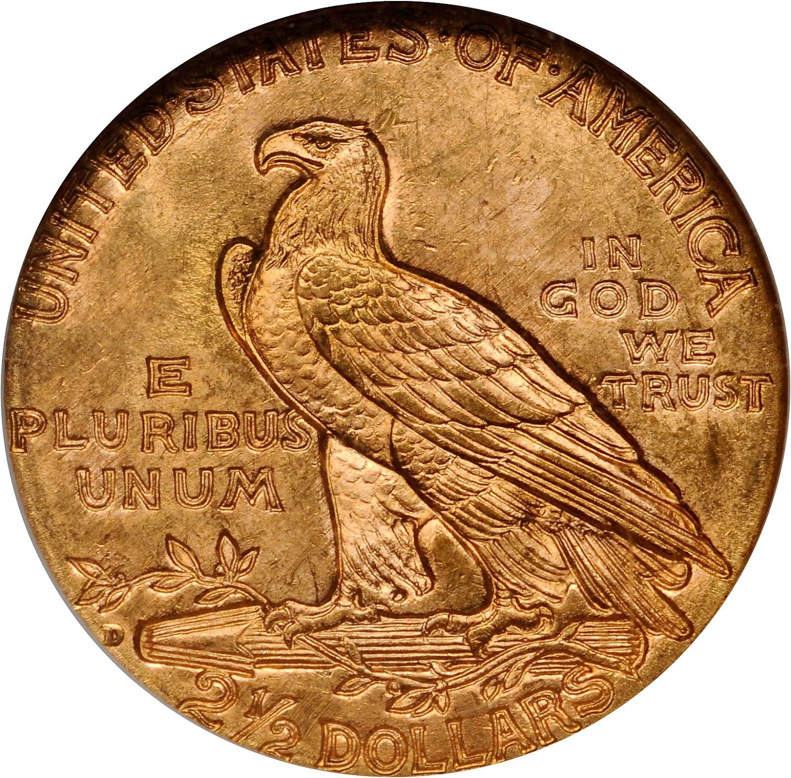 Value Of 1925 D Indian Head 2 50 Gold Rare Coin Buyers