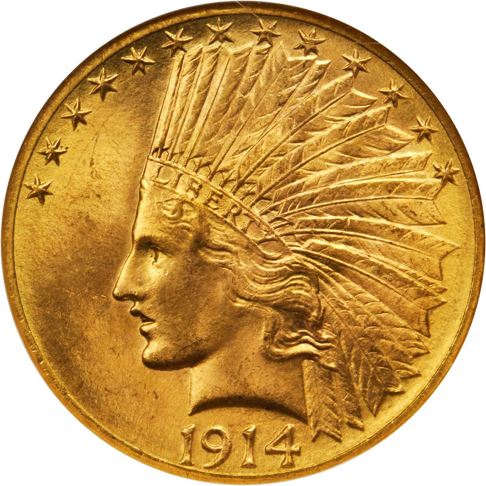 Value Of 1914 D Indian Head 10 Gold Sell Your Rare Coins