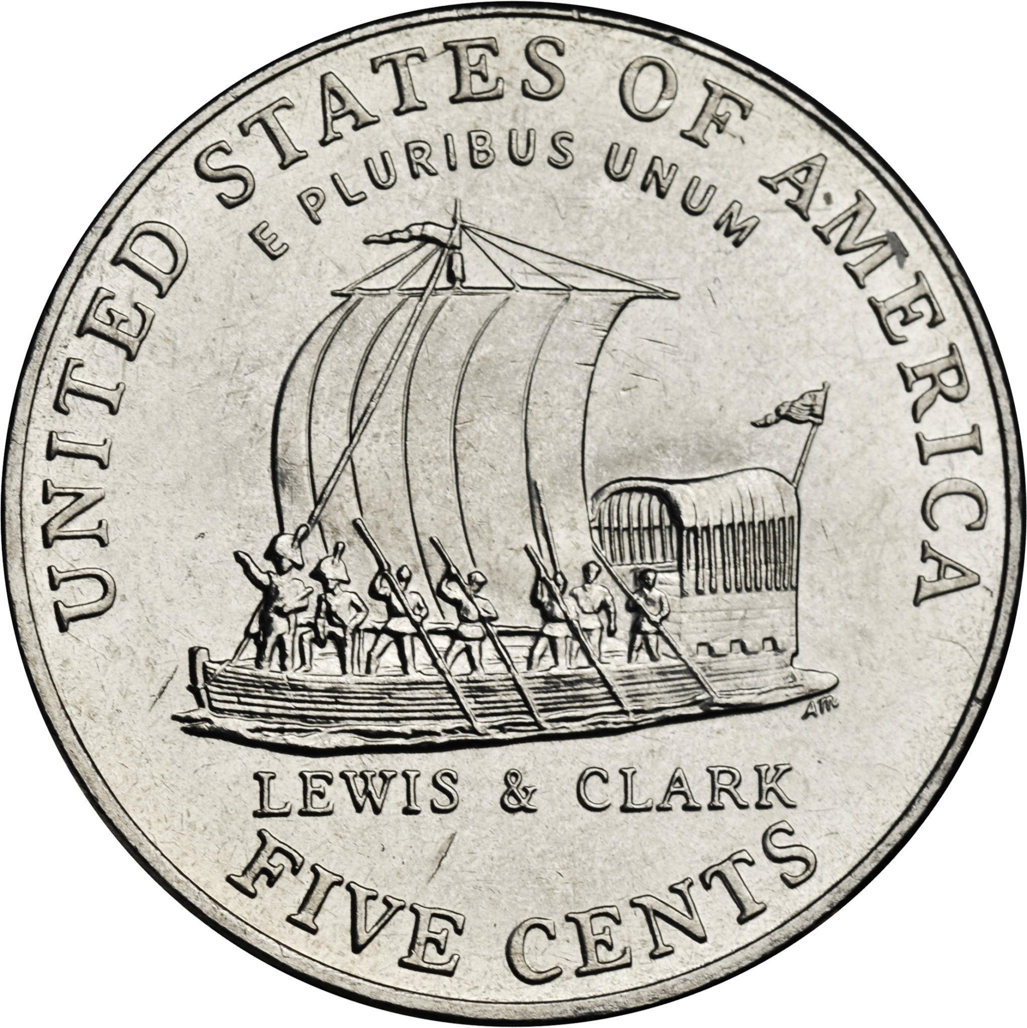2004 Roll Proof Keel Boat Nickel 40 Coins Lewis /& Clark Five Cent ROLL