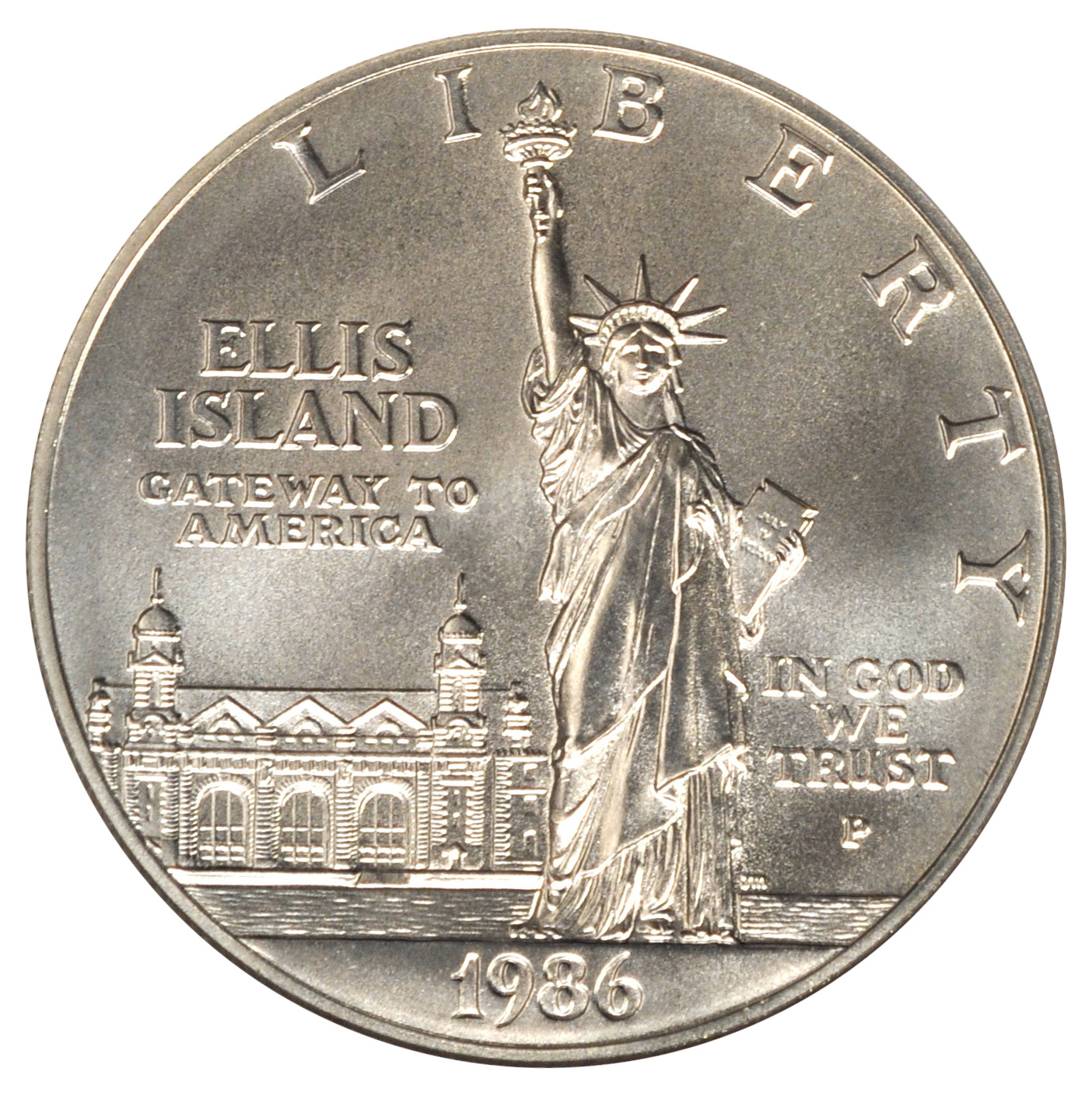 1986 1 Statue Of Liberty Silver Coin