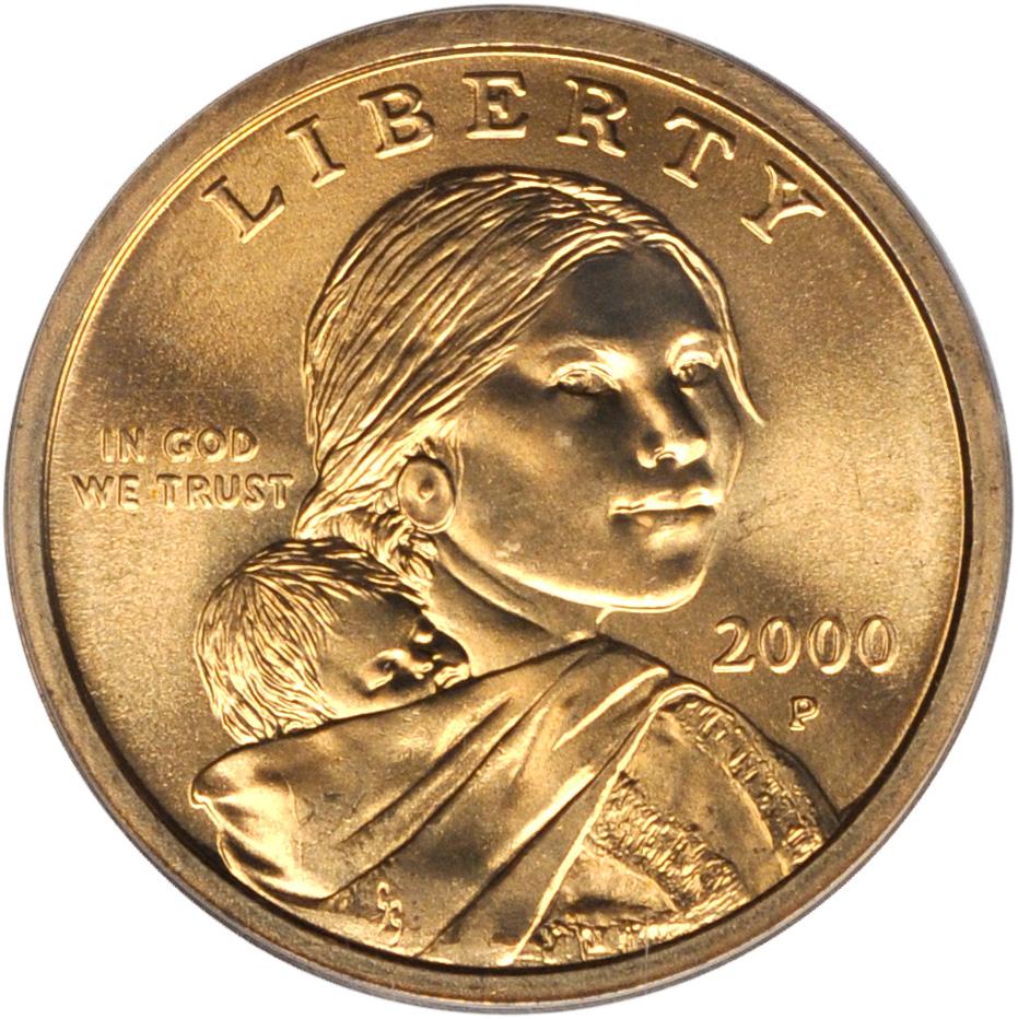 Value Of 2000 P Sacagawea Dollar We