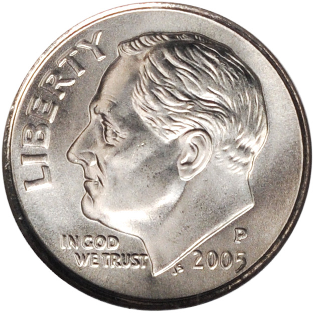 2005-P Uncirculated ROOSEVELT DIME ROLL Hard To Find Not Satin Finish