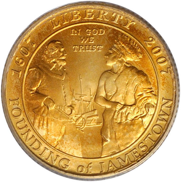 Value Of 2007 5 Jamestown Gold Coin Sell Gold Coins