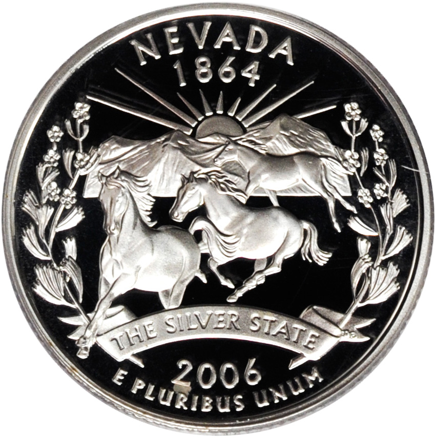 2006 $10 Bank Roll Nevada State Quarters Running Horses Uncirculated Coins Money