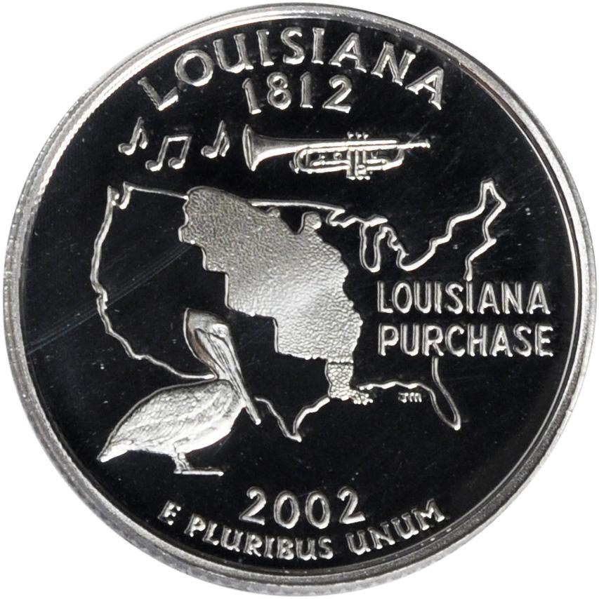 2002 D  Louisiana   State Quarter  **BRILLIANT UNCIRCULATED**
