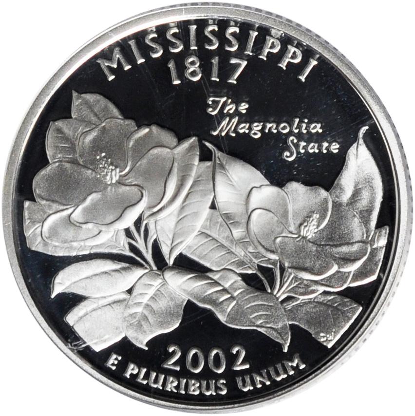 2002-S MISSISSIPPI  STATE  PROOF QUARTER