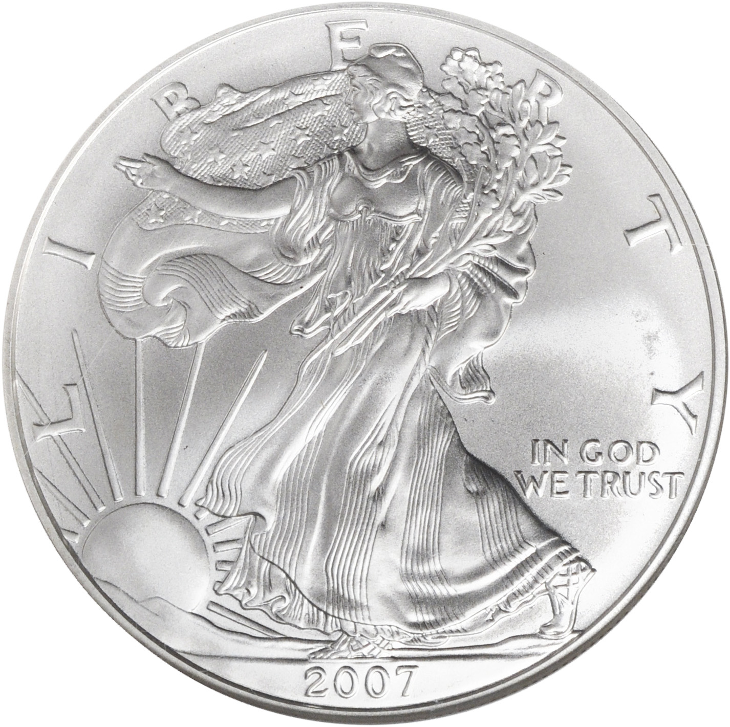 2007 GOLD /& PLATINUM Plate SILVER AMERICAN EAGLE 1 OZ 999 Coin L Williams