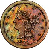 Braided Hair Half Cent (1840-1857) Image
