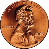 Lincoln Memorial Cents (1959-2008) Image