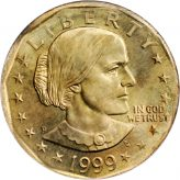 Susan B. Anthony Dollar (1979-1999) Image