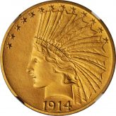Indian Gold Eagle (1907-1933) Image