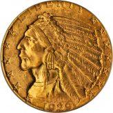 Indian Gold Half Eagle (1908-1929) Image